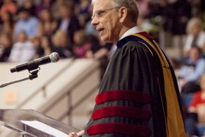 Reese points new grads to Bonhoeffer's advice