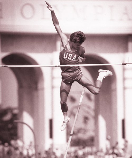 Tim Bright at the 1984 Olympics in Los Angeles.