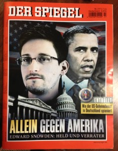 The cover of Der Spiegel, Germany's leading news magazine and the largest published in Europe.