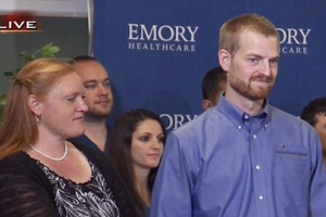 Brantly grateful to be released from hospital
