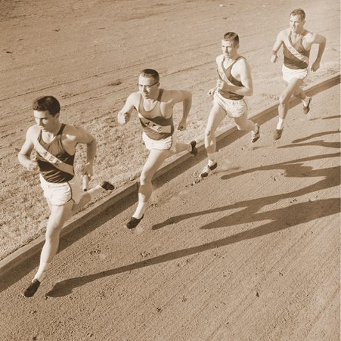 James Segrest, Bill Woodhouse, Waymond Griggs and Bobby Morrow practiced and competed on Elmer Gray Stadium's cinder track, and together tied or set three world records. Morrow was part of nine world records.