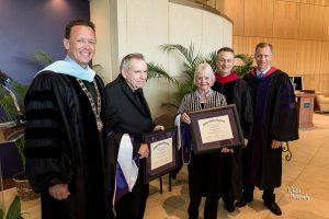 Harbers presented with honorary doctorates