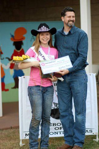 Miss Frontier Texas 2015 Savannah Richardson with Jeff Salmon, executive director of Frontier Texas museum