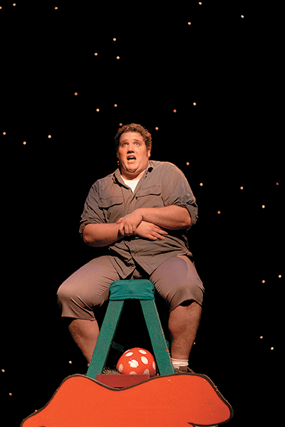 Jeffrey portrayed Horton the Elephant in Seussical, the 2005 Homecoming Musical during ACU's Centennial Celebration year.