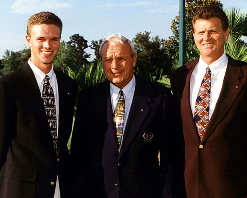Justin Jarrett, Palmer and Vince Jarrett in 1997 at the Palmer Cup