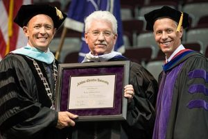 Lee presented with honorary doctorate