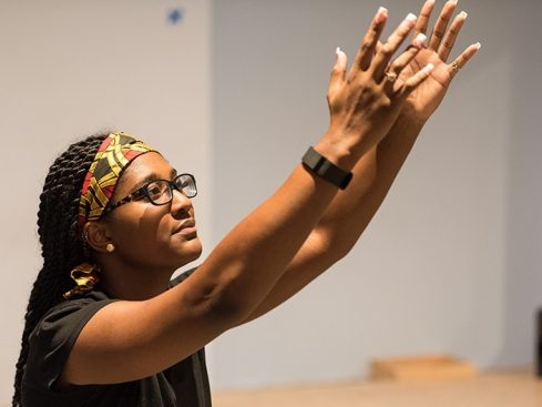 Alisha Taylor uses African dance in outreach to local children