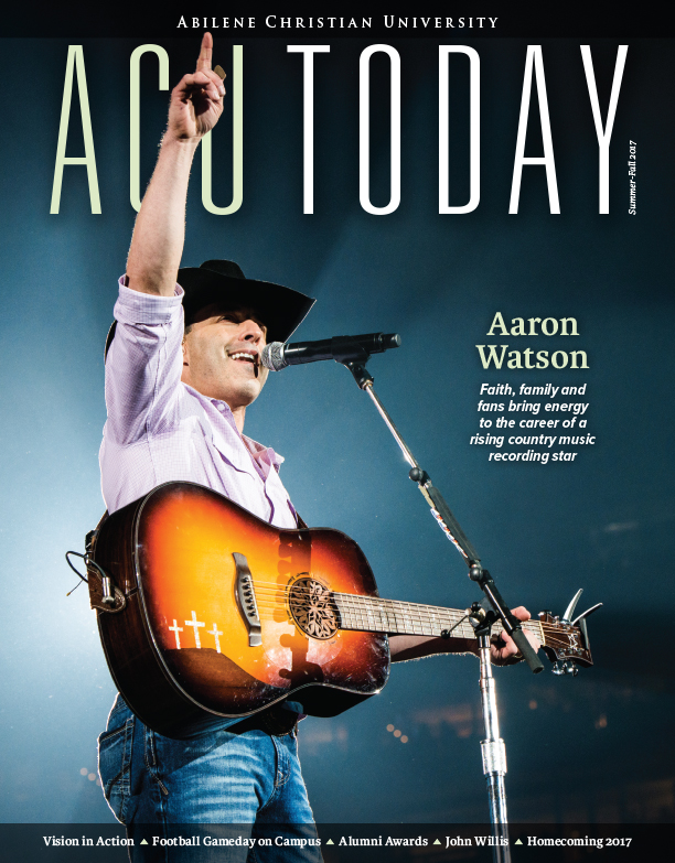 Read about Aaron Watson's rise to stardom in the new issue of ACU Today magazine