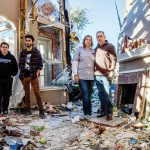 (FROM LEFT) Cameron, Blake, Michelle and Mike Patterson in their Rowlett house after a powerful Christmas week tornado destroyed it in 2015.