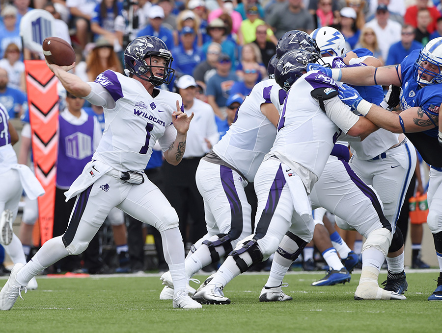 Quarterback Dallas Sealey and the Wildcats open their 2017 season Saturday on the road against an FBS opponent, as they did last year against the Air Force Academy. ACU gave the Falcons a tough game, falling 37-21, and face the University of New Mexico in this year's first game.
