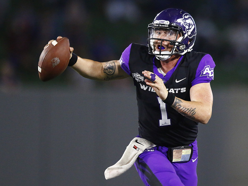 Wildcat quarterback Dallas Sealey ran for three TDs and threw for another in leading ACU to a 45-20 win over University of the Incarnate Word on Saturday night in San Antonio.