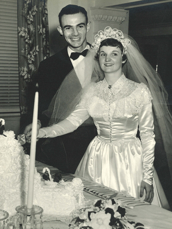 In 1952, Amos and Dewby married at College (now University) Church of Christ. Twenty-two ACU students lived with them through the years in their house on Washington Boulevard.