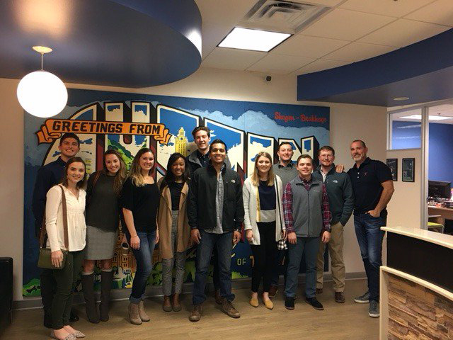 Members of ACU's Collegiate Entrepreneurs Organization recently toured Q1 Media in Austin to hear the inside story of the startup business.