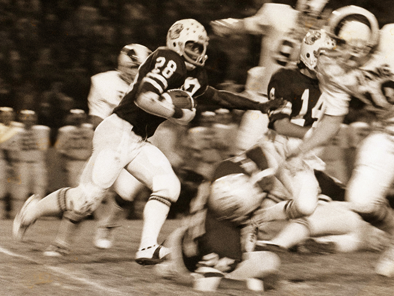 When he graduated in 1978, Montgomery was college football's all-time regular season scoring leader with 70 TDs, breaking a mark held by Walton Payton of Jackson State University. ACU had a record of 34-9-1 during his career (1973-76), when he ran for 3,047 yards and scored 76 TDs.