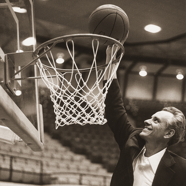 Head coach and popular ACU communication teacher Willard Tate led ACU to the NAIA national tournament in 1979-80 and a best-ever 27-5 record.