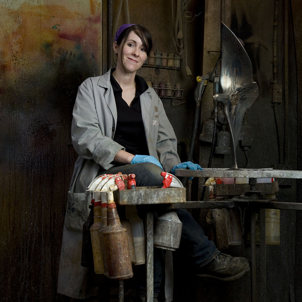 Rebecca Barker ('04), head patineur and conservator, Deep In The Heart Art Group
