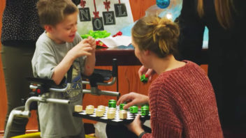 Occupational therapy students adapt toys for children with special needs