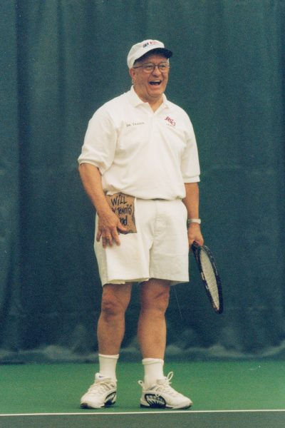 Teague was an avid and accomplished tennis player.
