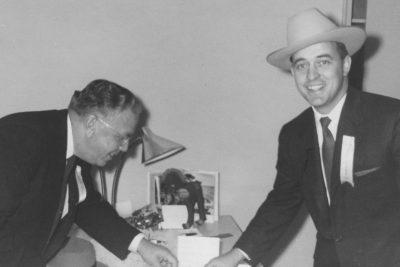 Teague and ACU president Dr. Don H. Morris.