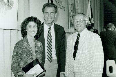 Helen Teague, Roger Staubach and ACU president Teague
