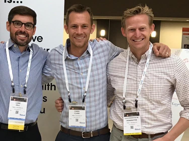 TimelyMD team from left: Luke Hejl, Chris Clark and Alan Dennington, M.D.