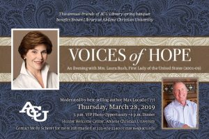 Laura Bush to headline Friends of ACU Library fundraiser