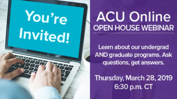 Learn more about online degrees during live webinar March 28