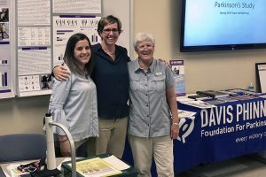 Students present Parkinson's research with special significance for retired professor