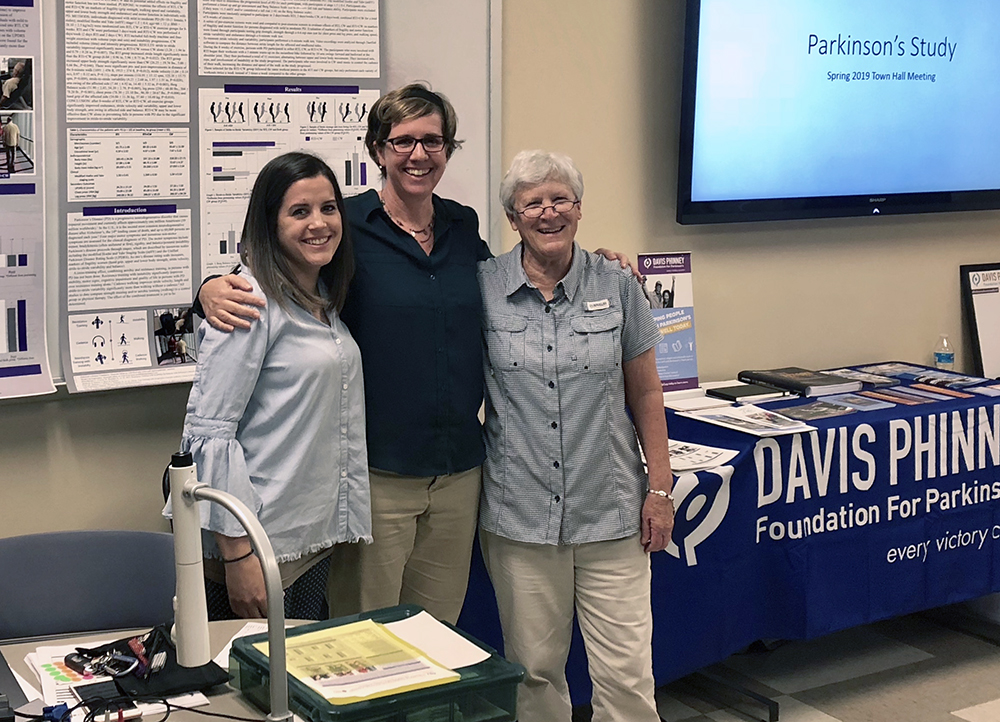 (From left) Annie Bane, Dr. Lindsay Edwards and Dr. Lorraine Wilson are three of the seven faculty members who worked on the Parkinson's study.