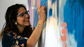 Alumna artist makes her mark in Honduras with abstract creations
