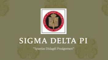 Sigma Delta Pi Hispanic Honor Society receives national awards