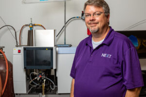 Chemistry professor Pamplin puts his knowledge into practice in ACU's NEXT Lab