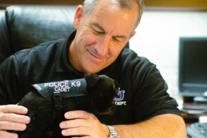 Fritter the K9 earns smiles, spreads good will for ACUPD