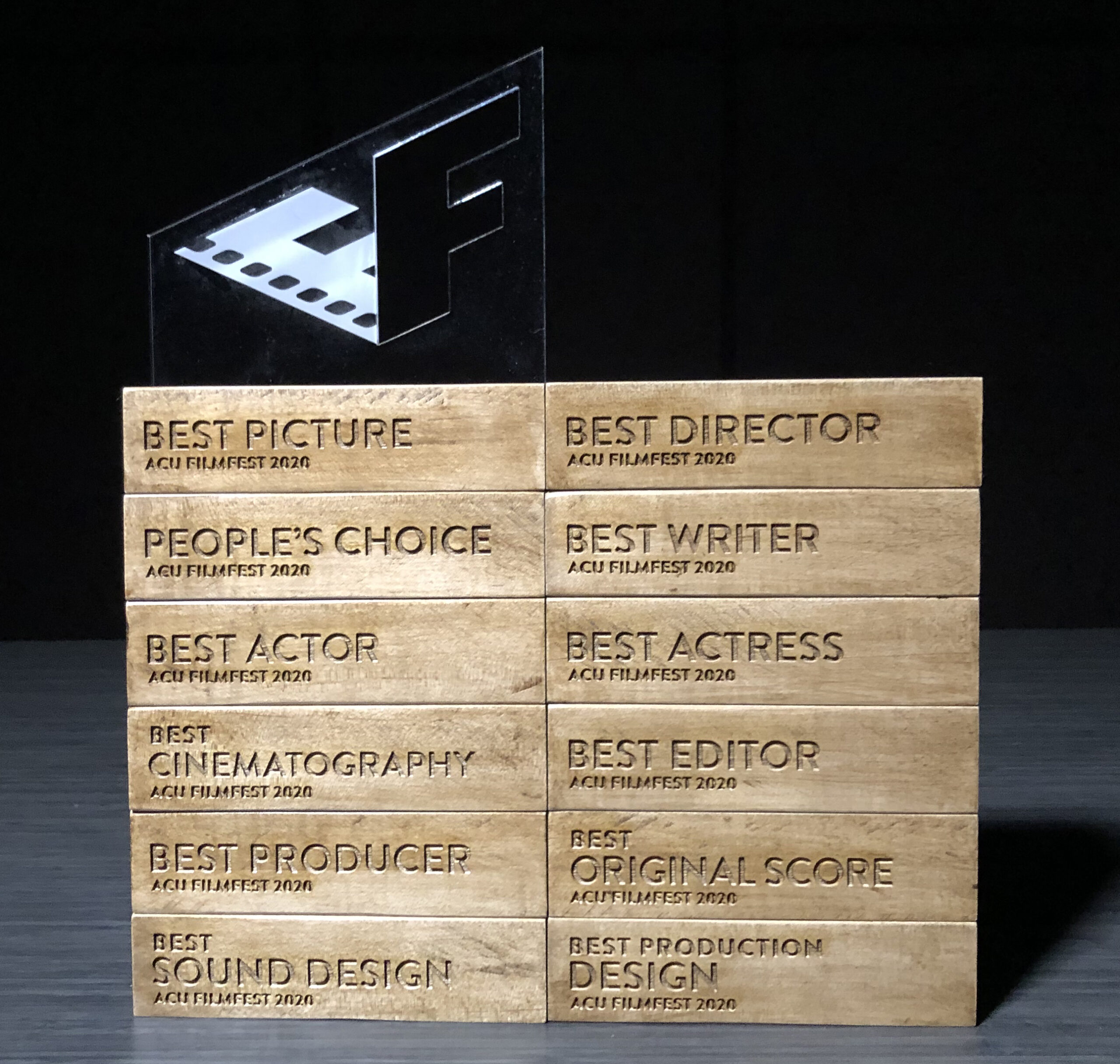 The awards given in acting, production, and technical categories during the gala were produced by Learning Studio and Maker Lab staff.