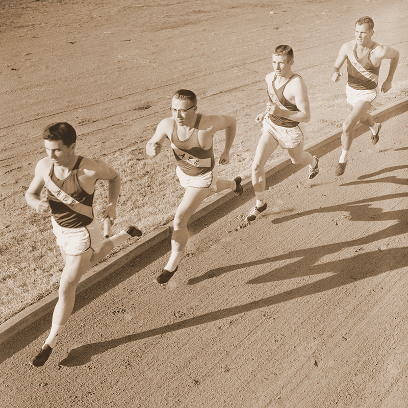 The Wildcats' 440-yard relay team of Waymon Griggs ('59), Bill Woodhouse ('59), James Segrest ('59) and Morrow set four world records as student-athletes at ACU.