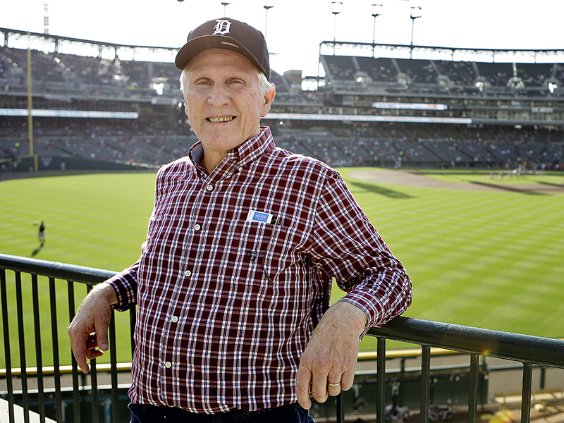 Bill Gilbreth was recognized in 2016 at Detroit's Comerica Park on the 45th anniversary of his MLB debut.