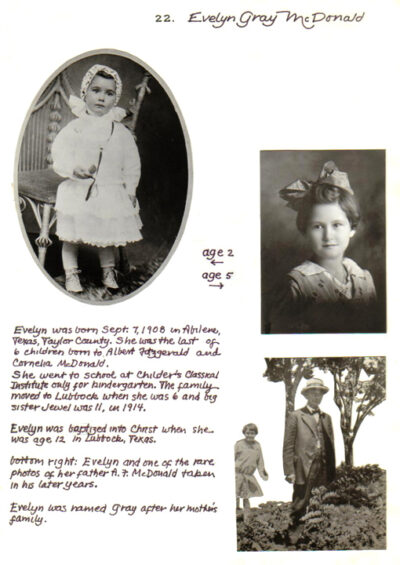 McDonald Family Scrapbook 3