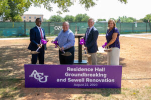 Groundbreaking for residence hall is first step toward new Freshman Village