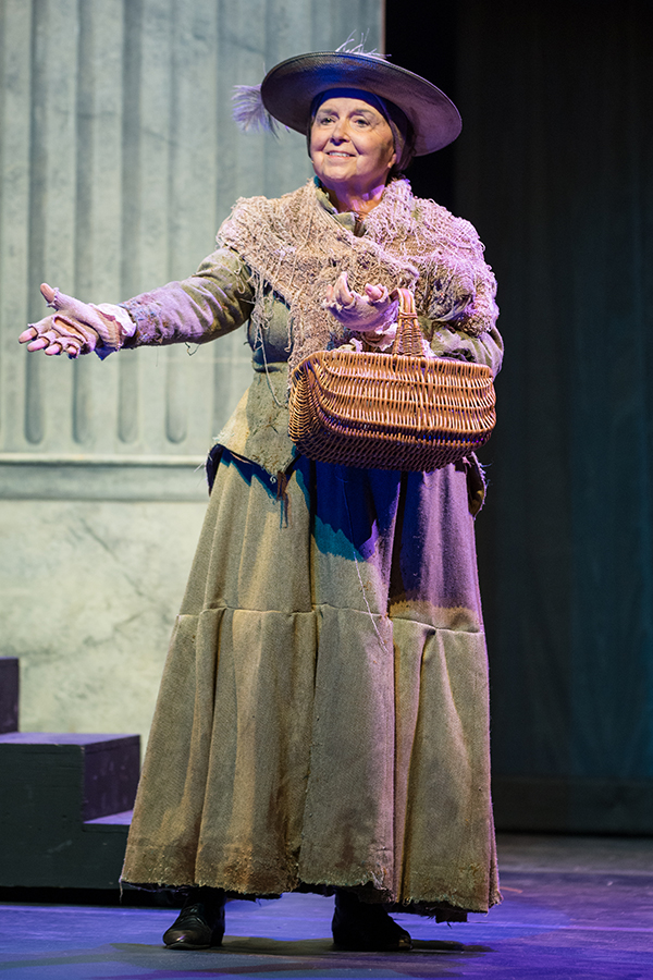 At age 86, Lipford portrayed the Bird Woman in Mary Poppins at ACU's 2015 Homecoming Musical.