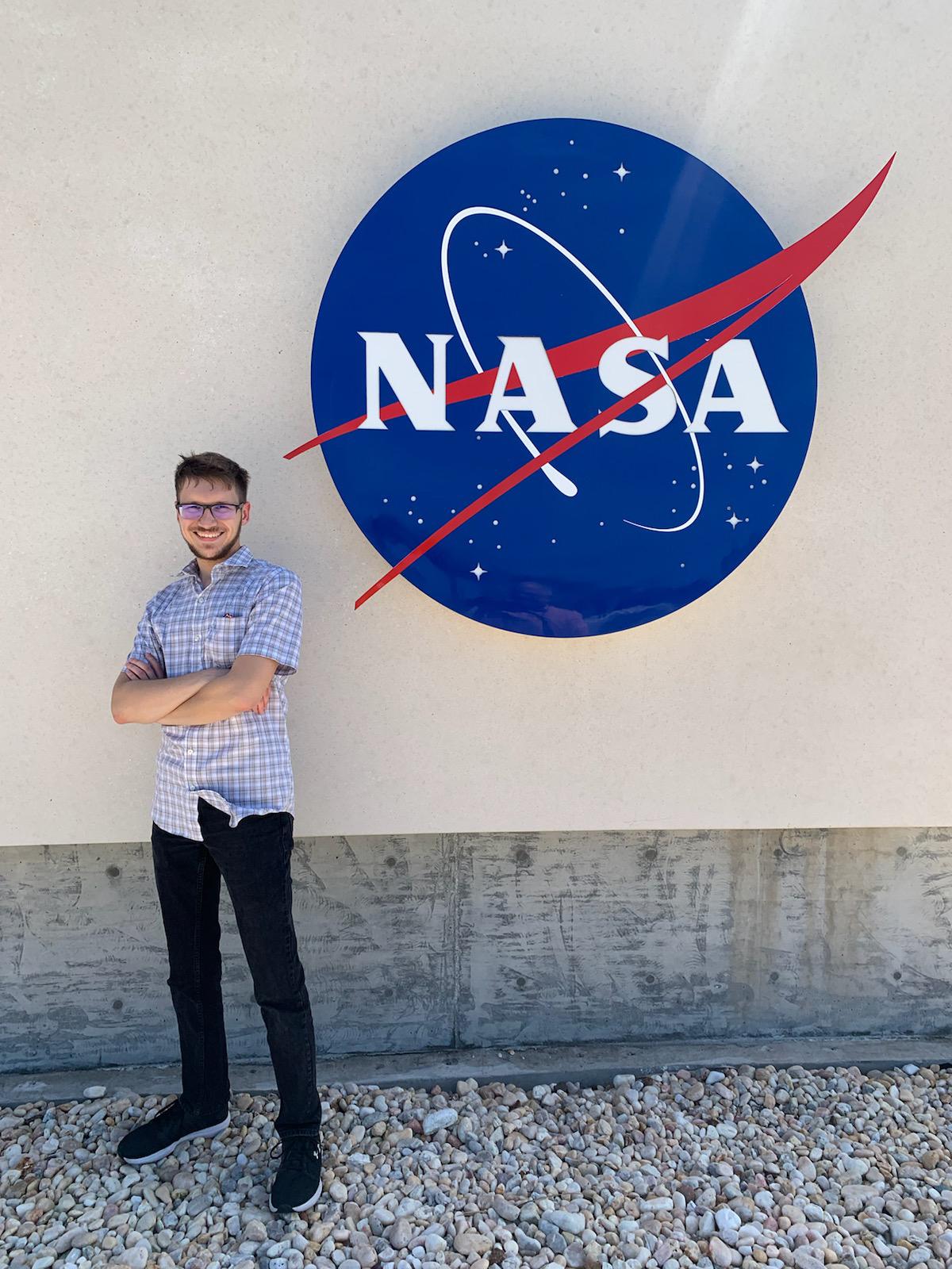 Mitchell Schneller during his internship at NASA.